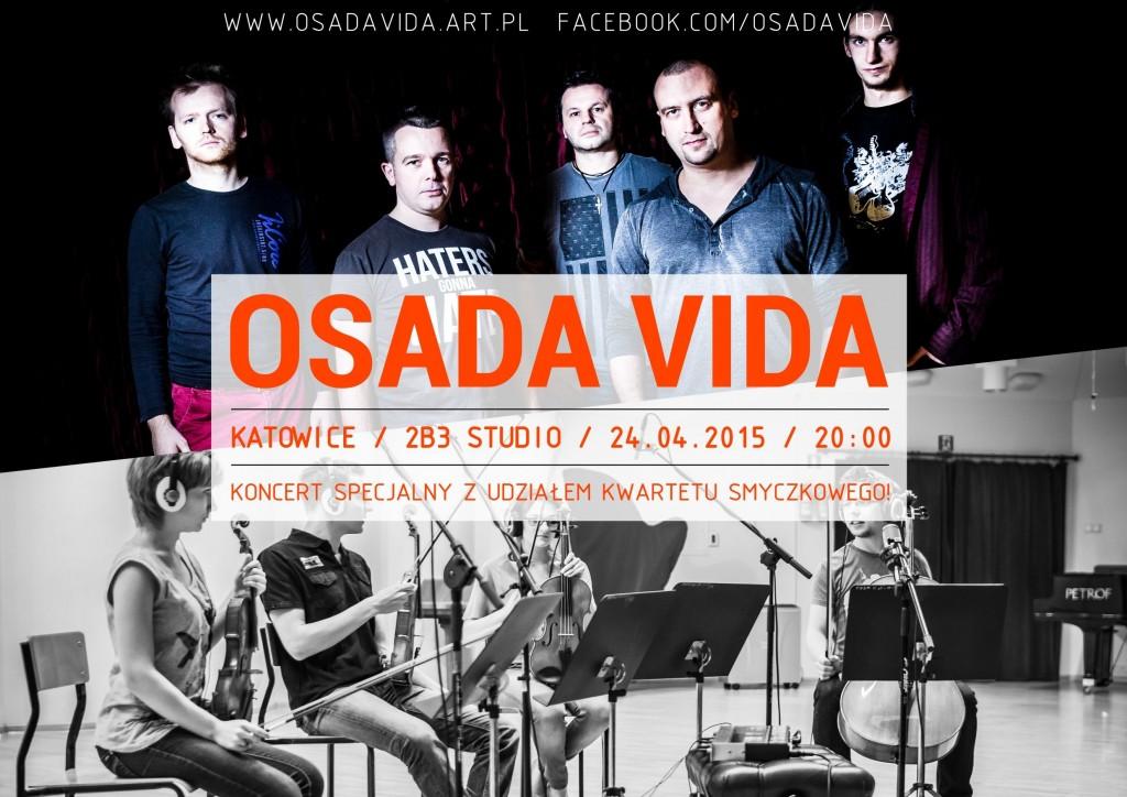 Osada Vida - koncert 2b3 Studio PLAKAT